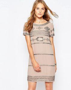 Vila Embellished Shift Dress