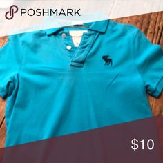 Abercrombie & Fitch Polo Turquoise. Polo. In EUC.  BOYS XL Abercrombie & Fitch Shirts & Tops Polos