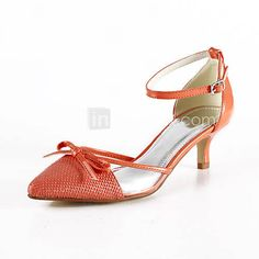 Leatherette Kitten Heel Pointy Toe/ Sandals Wedding Shoes(More Colors) - USD $ 49.99