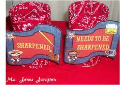 Ms. Jones' Junction: Western Theme Classroom - pencil holders