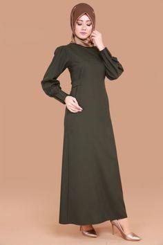 ** YENİ ÜRÜN ** Omuzdan Düğmeli Elbise Haki Ürün Kodu: LRJ501 --> 69.90 TL