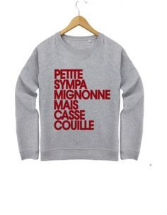 Madame Tshirt pull a message - Best Pins Live Cool T Shirts, Funny Shirts, Madame Tshirt, Beau T-shirt, T Shorts, Winter Looks, Mode Inspiration, Mode Style, Pulls