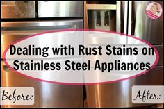 How can you effectively remove rust #stains from stainless steel appliances? #cleaning http://www.aslobcomesclean.com/2016/05/dealing-rust-stains-stainless-steel-appliances/