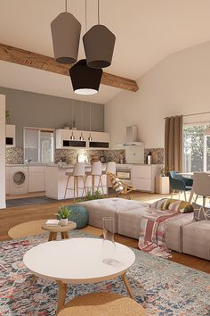 gorgeous living room color schemes to make your room cozy 22 Simple House Design, Kitchen Design Open, Modern Living Room Furniture Sets, Simple Living Room Decor, Living Room Sets Furniture, House Interior, Modern Furniture Living Room, Interior Design Living Room, Living Room Designs