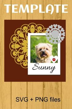 Beautiful picture frames for pet lovers ♥ paw print photo frame template and cutting file #frame #picture #svg #cutting #template Frame Template, Layout Template, Scrapbook Templates, Scrapbook Pages, Picture Frames, Beautiful Pictures, Paper Crafts, Clip Art, Creative