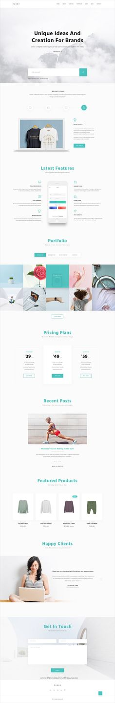 Zunox is clean and modern design multipurpose PSD template for creative #business website with 31 layered PSD pages download now #webdesign