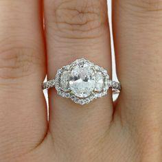 Uneek LVS836 0.68ctw Diamond Three Stone Engagement Ring Semi Mounting