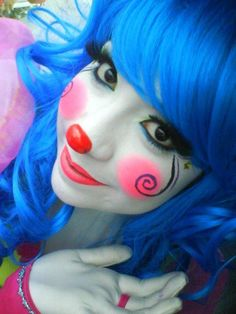 cutie pie clown by Louieeeman Girl Clown Makeup, Halloween Makeup Clown, Looks Halloween, Maquillaje Halloween, Halloween Face, Halloween Photos, Vintage Halloween, Halloween Costumes, Makeup Fx
