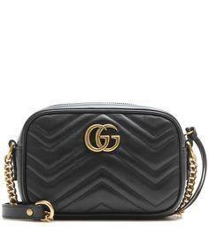 GUCCI Gg Marmont Mini Matelassé Leather Crossbody Bag. #gucci #bags #shoulder bags #lining #crossbody #suede #
