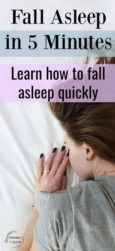 Fall Asleep Fast: What I do to Fall Asleep in Under 5 Minutes Fall Asleep Faster Tips, How To Fall Asleep Quickly, Ways To Fall Asleep, How To Sleep Quickly, Insomnia Help, Insomnia Causes, Help Falling Asleep, Natural Remedies For Insomnia, Natural Sleeping Pills