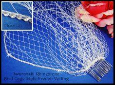 Affordable Elegance Bridal - Birdcage Wedding Veil with Sparkling Rhinestone Trim, $64.99 (http://www.affordableelegancebridal.com/birdcage-wedding-veil-with-sparkling-rhinestone-trim/)