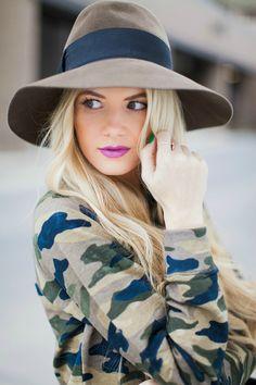 camo sweater + hat
