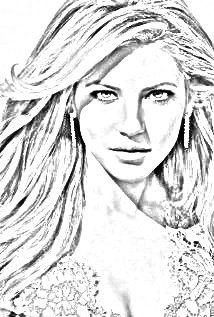 Katheryn Winnick drawing. Upload your photo and get a drawing for free!