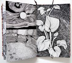 Inside the sketchbook of Helen Wells Artist pen and ink drawings