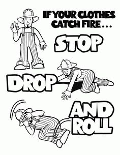 Fire Safety Printable Coloring Pages