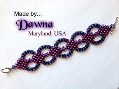 Tutorial Superduo Diana Bracelet Instant door ButterflyBeadKits