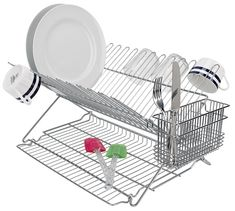 Extra Large Dish Drying Rack Delectable This 3Piece Stainless Steel Dish Rack Provides Extra Space For 2018