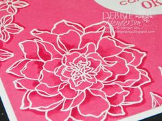 Debbie used a marker to highlight the embossed flower. Neat effect! All supplies from Stampin' Up!