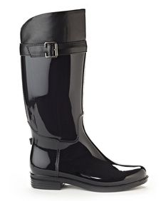 Look at this Black Rain Boot on #zulily today!