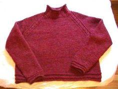 Free Knitting Pattern - Women's Sweaters: Theresa's Red Sweater