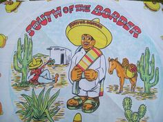 Vintage Scarf Souvenir from South of the Border by AlbredasAttic, $8.00