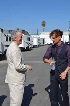 Chatting with Matthew Gray Gubler on the set of Criminal Minds. (merletemple.com)