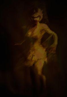 Nächtliche Besucherin, die kommt um Blut und Lebensenergie zu rauben...