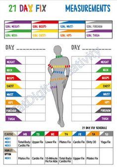 21 Day Fix Tracker 21 Day Fix Calorie by TatDigitalCreativity