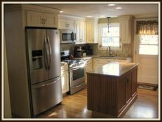 Beauty in Small Spaces - farmhouse - Kitchen - Providence - Cabinet Gallery LTD