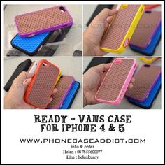 Vans case for Iphone 4 & 5. All ready in stock.  Info & Order : +6287855600077 |  Line : helenkusoy |  Instagram : @pcasby |  Twitter : @phonecaseaddict |  Website : http://www.phonecaseaddict.com  | #vans #iphone #case #ready #best #selling