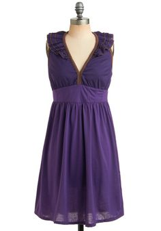 Love the grape color, pair this with some shoes from Seychelles and I'm ready to party