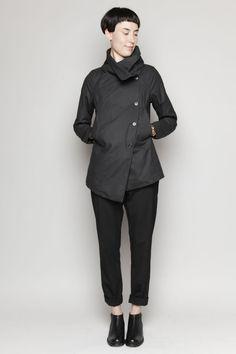 Love the asymmetry.   Totokaelo - Hope - Dream Coat - Black