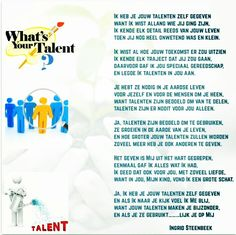 Mooi gedicht over onze talenten
