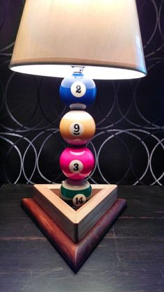 Billiard ball /Pool ball lamp. on Etsy, $45.00