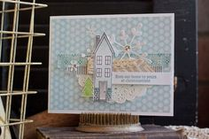 Get into the Christmas spirit.  Holiday Home stamp set with the Homemade Holiday Framelits.   www.stampinbythesea.com Kimberly Van Diepen