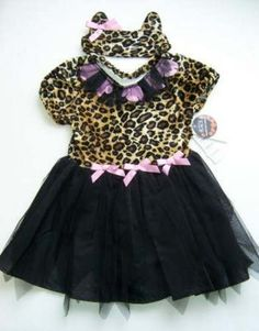 New Childrens Place Girls Halloween Leopard Cat Costume 2 Pc Set Sz S 5/6 NWT  Ebay item # 161128650161