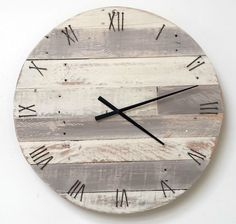 large original driftwood clock wooden wood upcycle reclaimed rustic shabby chic