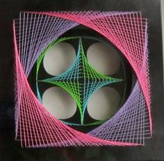 Wall Art Home Décor Geometric Original Design of String Art by BoldFolds