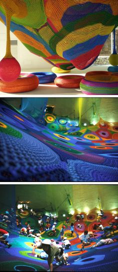 Playground de crochê.
