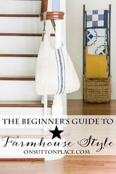Easy ways to add Farmhouse decor to any home without breaking the bank! Tips and ideas for getting started. #spon