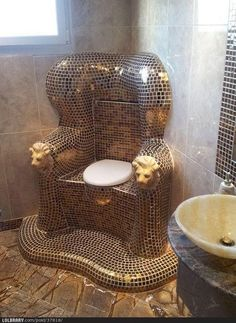 It really is a throne in this bathroom!