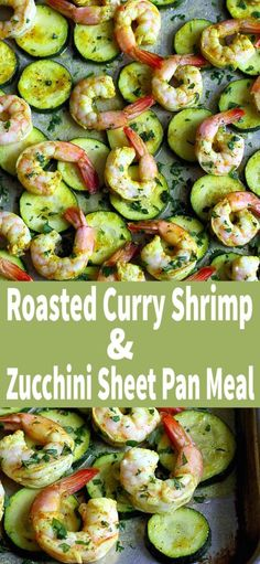 This healthy roasted curry shrimp and zucchini sheet pan meal is not only delicious but it also comes together in less than 30 minutes. 172 calories and 2 Weight Watchers SP Salmon Recipes, Seafood Recipes, Dinner Recipes, Steak Recipes, Easy Healthy Dinners, Easy Dinners, Weeknight Dinners, Best Gluten Free Recipes, Healthy Recipes