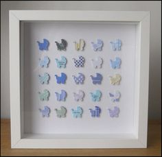 Personalised New Baby Boy Box Frame Picture by ElsieBobbins