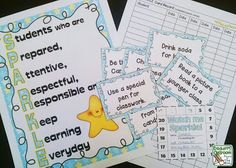 SPARKLE, students have a punch card to collect positive behavior punches. When their punch card is full they get to choose a reward. Positive Behavior Incentive Tool Box, Crockett's Classroom