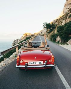 """21.7k Likes, 166 Comments - Hildegunn Taipale (@hilvees) on Instagram: """"Cruisin' through Mallorca's beautiful coastline in this beauty. A dream come true """""""