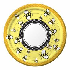 Bumble Bee Baby Shower Supplies Paper Plates