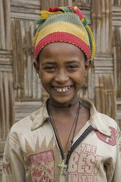 Cute Ethiopian girl in Dorze, Ethiopia