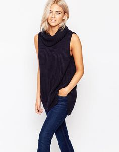 Image 1 of Oasis Ribbed Cowl Neck Sweater