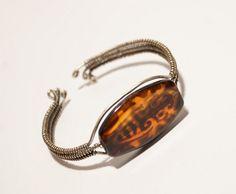 Agate Cuff Bracelet,Wire Wrapped  Bracelet,Wire Wrapped Jewelry Handmade,Agate Bracelet,Cuff Bracelet in Handmade