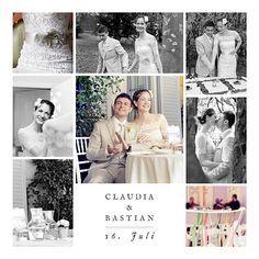 Dankeskarten Hochzeit Erinnerung 8 fotos weiß